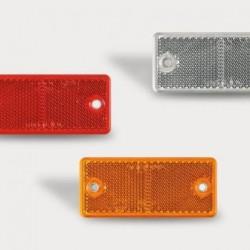 Светоотражатель прямоугольный с двумя отверстиями DOB-034 Z,B,C
