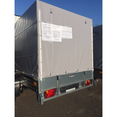 Комплект дуг и тента для прицепа ССТ-08К (144 см)