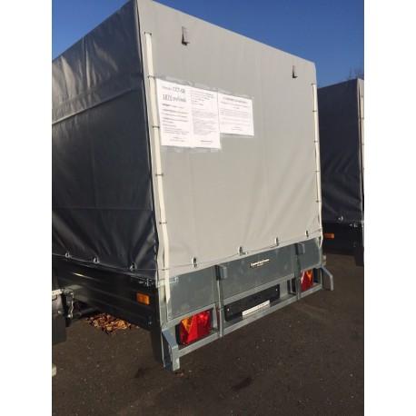 Комплект дуг и тента для прицепа ССТ-08 (144 см)
