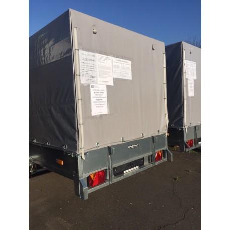 Комплект дуг и тента для прицепа ССТ-09К (144 см)