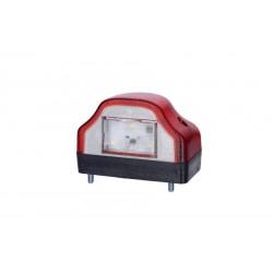 Светодиодный фонарь подсветки заднего номера LTD-232 красного цвета.
